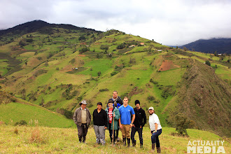 Photo: Posing in the high mountains with the FCT crew.