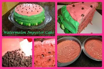 Watermelon Impostor Cake