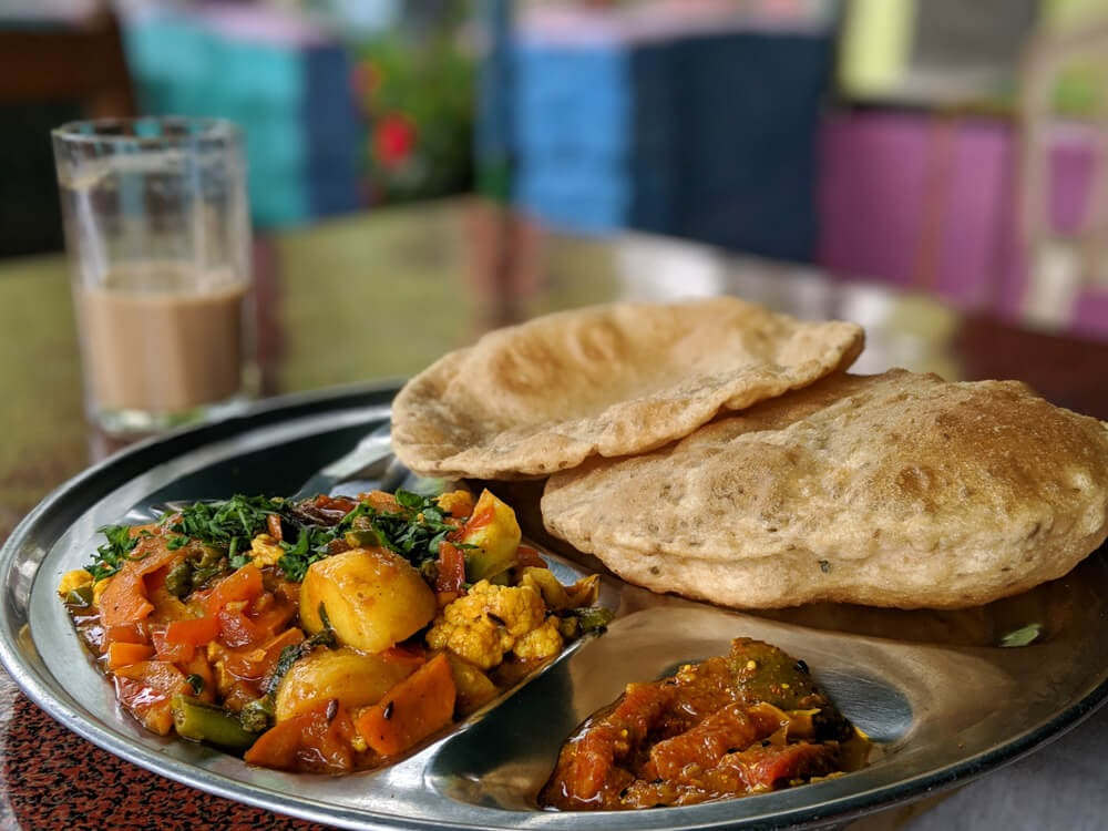 poori+sabji+himachal+food+walking+around+dharamshala+city+bhagsunag+himachal+pradesh