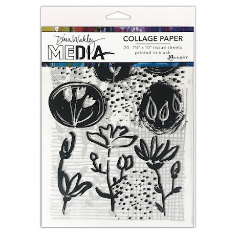 Dina Wakley Media Tissue Pack 7.5X10 20/Pkg - Things That Grow