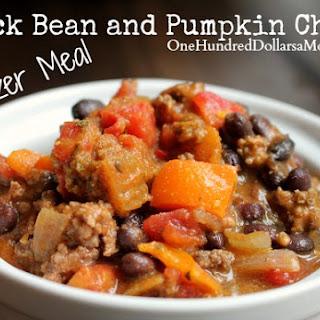 Freezer Meal – Black Bean and Pumpkin Chili