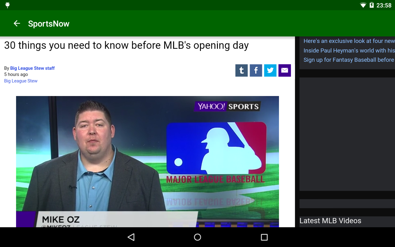 Sports Now- screenshot