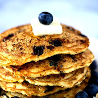 Blueberry Coconut Oatmeal Pancakes Recipe