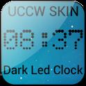 Dark Led Clock UCCW SKIN Free icon