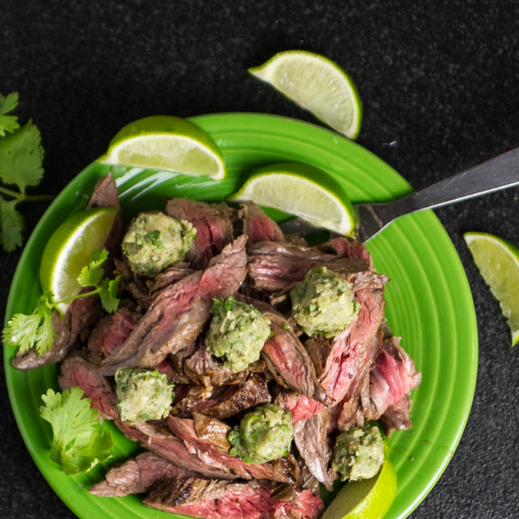 Marinated Skirt Steak with Cilantro-Lime Ghee Recipe | Yummly