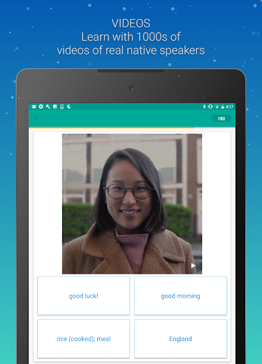 Screenshot 4 for Memrise's Android app'