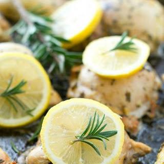Lemon-Rosemary Marinated Chicken.