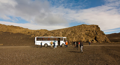 Photo: ... bus stop due to Hekla photo spot ...