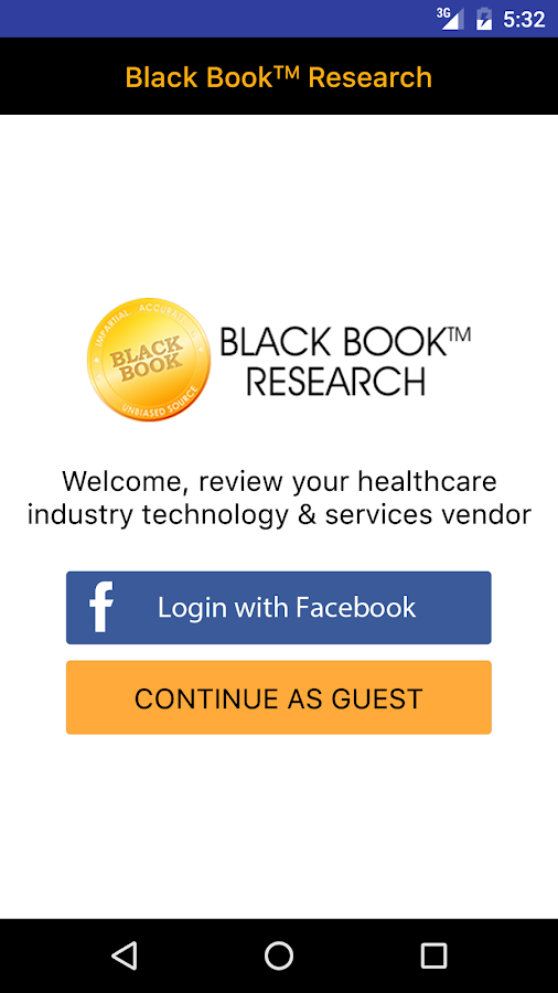 BLACK BOOK HEALTHCARE SURVEYS- screenshot