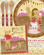 "Photo: ""Party in the Alps"" :: Gift & Paper Goods Market — Illustration © Kim Buchheit"