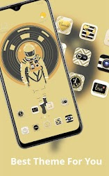 Illustration theme the man in the yellow spacesuit APK screenshot thumbnail 2