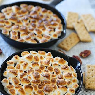 5-Ingredient Caramel Pecan S'mores Dip