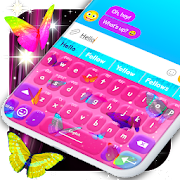 Neon Butterfly Keyboard \ud83e\udd8b Neon Themes Keyboards