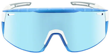 Optic Nerve Fixie Max Sunglasses - Shiny White, Crystal Blue Lens Rim, Brown Lens with Blue Mirror alternate image 1