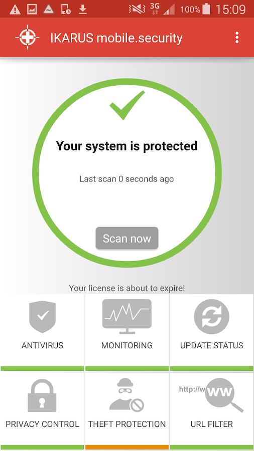 IKARUS mobile.security- screenshot