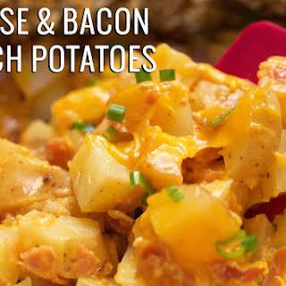 Crock Pot Cheese & Bacon Ranch Potatoes.