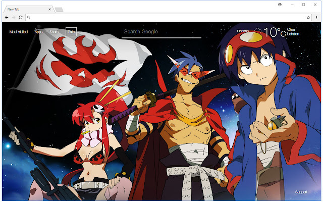 Gurren Lagann Wallpaper HD New Tab Themes