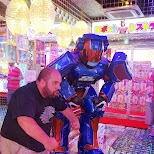 muscle flexing at the Robot Restaurant in Kabukicho in Kabukicho, Tokyo, Japan