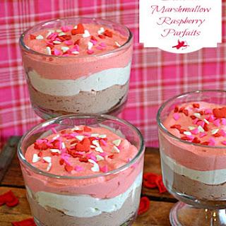 Chocolate Marshmallow Raspberry Parfaits