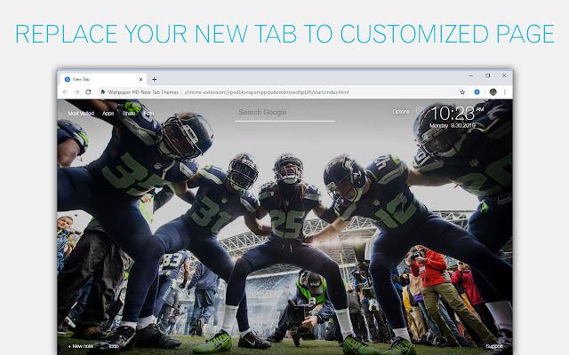 NFL Seattle Seahawks Wallpaper Custom New Tab