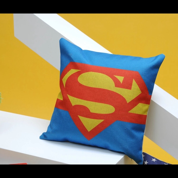 Superman Sofa Cushion Throw Pillow Case Cover