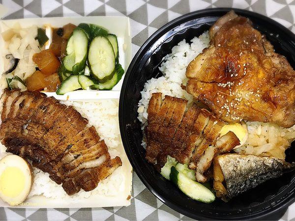 八葉燒烤雞腿飯 |吃便當配串燒才過癮,品嚐現點現烤的美味,滿滿碳火香氣火味十足。