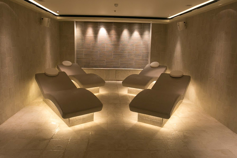 Relax in the solace of the LivNordic Spa on Viking Sun. Entry is free.