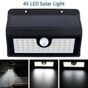 Lampa solara 45 led cu senzor de miscare si lumina oferta reducere 4