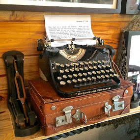 Hemmingway typewriter by Marianne Ang - Artistic Objects Technology Objects ( hemmingway, typewriter, antiques )