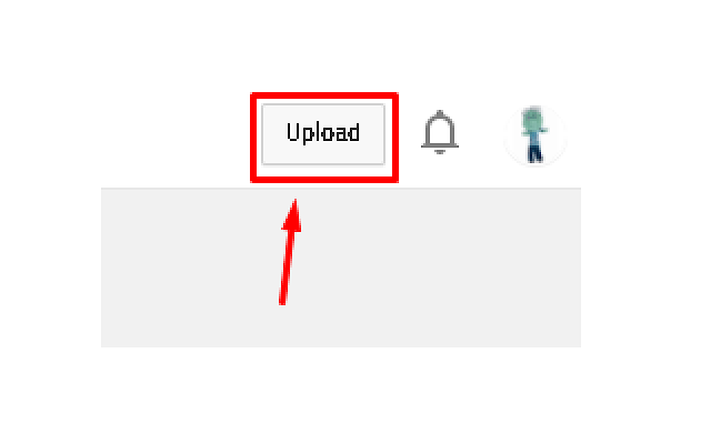 Old YouTube Upload Button