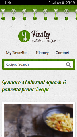 android Italian Recipe Screenshot 1