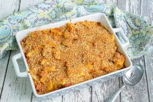 """3 Cheese Tortelli With Baked Ham Bites """"Yum! This casserole is a..."""