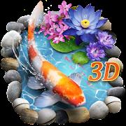 3D Koi Fisch Thema Lebhafter 3D-Welleneffekt