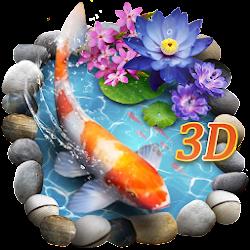 3D Koi Fish Theme & Lively 3D Ripple Effect