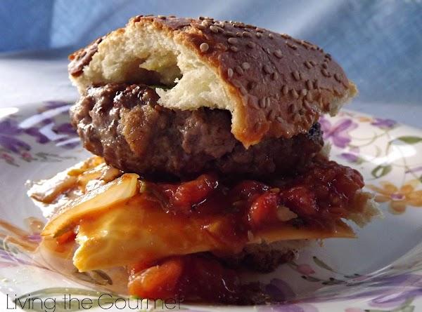 Hamburgers With Fresh Tomato And Onion Relish Recipe