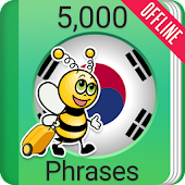 Learn Korean Phrasebook - 5000 Phrases