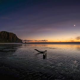 Morro Bay Impression by Michael Otter - Landscapes Sunsets & Sunrises