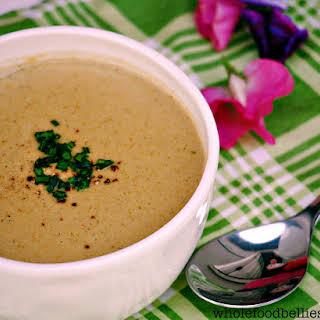 Cream of Broccoli and Pistachio Soup.