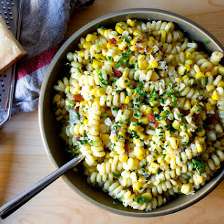 Corn, Bacon and Parmesan Pasta