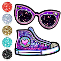 Glitter Coloring Book For Girls - Beauty Toys icon