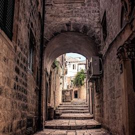 Dubrovnik Old Town Street by Branko Meic-Sidic - City,  Street & Park  Street Scenes ( croatia, hdr, details, dubrovnik, oldtown )
