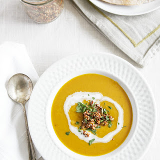 Indian-Spiced Squash Soup with Crispy Quinoa.