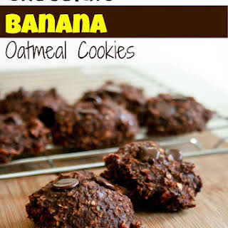 Chocolate Banana Oatmeal Cookies.