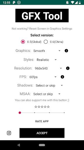 GFX Tool Aplikace (apk) ke stažení zdarma pro Android/PC/Windows screenshot