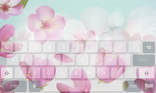 Floral Flower Beauty Keyboard