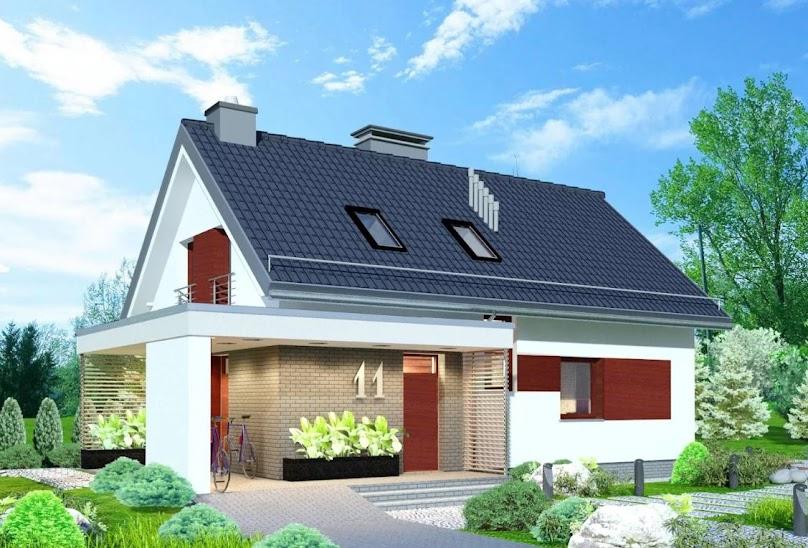 Projekt domu Domidea 58 m