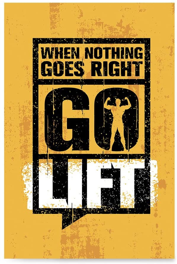 Gym Inspiration Posters by EzPosterPrints is another inspiration wall decor by EzPosterPrints. These are colorful with strong inspirational messages that dominates the poster.