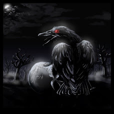 Pájaro tue tue en la oscuridad de la noche