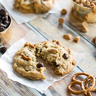 Peanut Butter Pretzel Chocolate Chip Cookies.