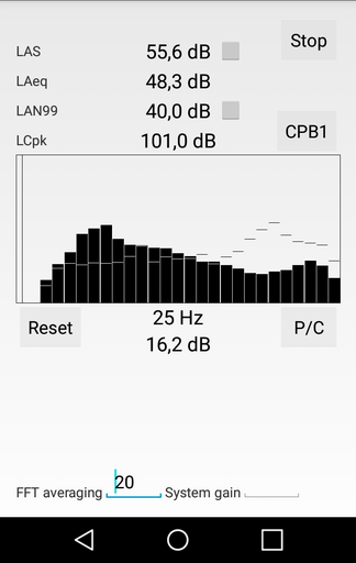 Sound level meter- screenshot
